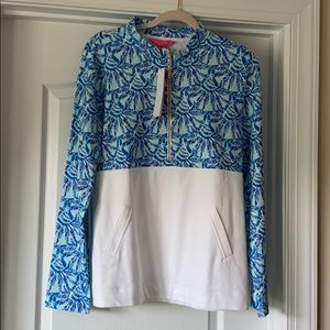 Lilly Pulitzer Womens Popover Blue Large NWT